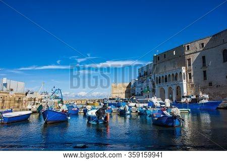 Old Port Of Monopoli. Puglia. Southern Italy.