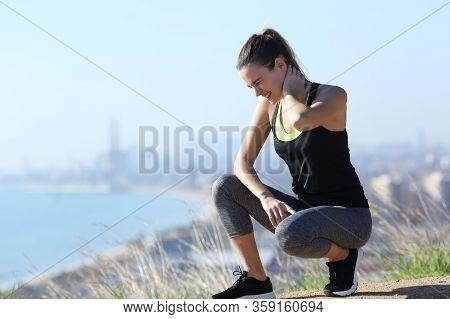 Runner Suffering Neck Ache After Sport