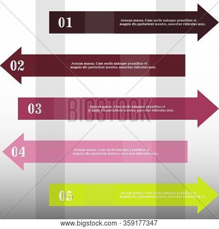 Modern Strips Infographics X Options Banner For Business Processes, Workflow, Diagram, Flowcharts