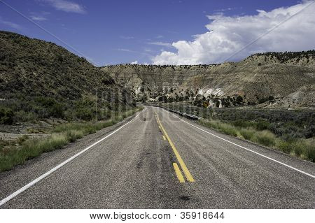 Straight Stretch Of Road