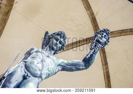 Statue Of The Italian Florentine Renaissance: The Perseus Of Cellini