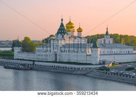 Holy Trinity Ipatiev Monastery Closeup  On A September Evening. Kostroma, Golden Ring Of Russia