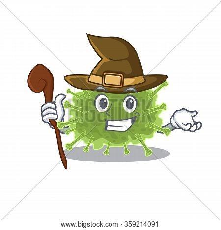 Haploviricotina Sneaky And Tricky Witch Cartoon Character