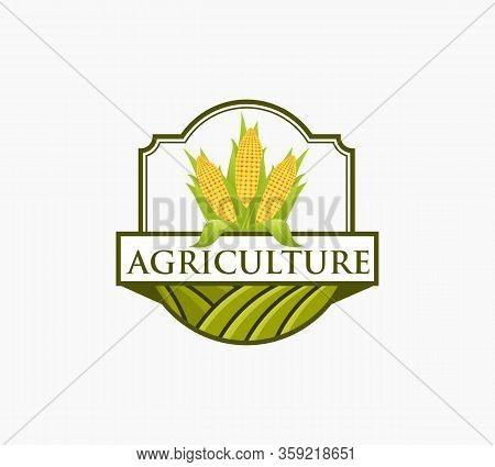 Agricultural  Logo Design, Farm Corn, Agricultural Company Logo. Farm Corn Design. Agricultural Illu