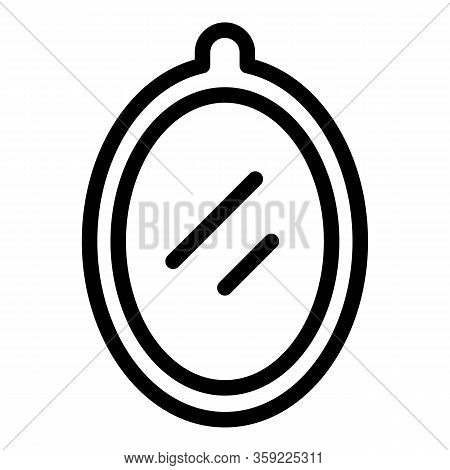 Kid Room Wall Mirror Icon. Outline Kid Room Wall Mirror Vector Icon For Web Design Isolated On White