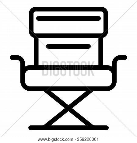 Film Director Chair Icon. Outline Film Director Chair Vector Icon For Web Design Isolated On White B