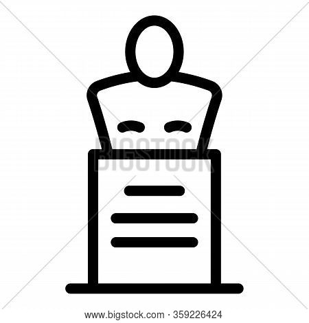 Theatre Bust Icon. Outline Theatre Bust Vector Icon For Web Design Isolated On White Background