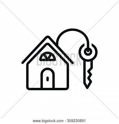 Black Line Icon For Own Personal Mine Property Mortgage Property Real-estate Architecture Lock