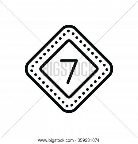 Black Line Icon For Seven Numerical Number Letter Count Date