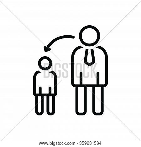Black Line Icon For Childhood Infancy Early-life Kid Child Parent Juvenility Puerility