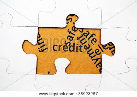 Credit Puzzle Concept