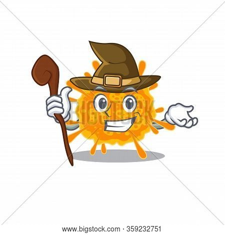 Nobecovirus Sneaky And Tricky Witch Cartoon Character