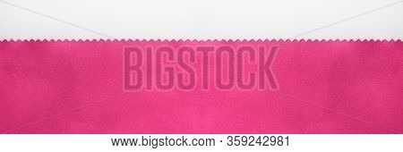 Swatch Purple Fabric Background, Plain Unprinted Pink Cloth Material. Soft Woven Light Purple Color