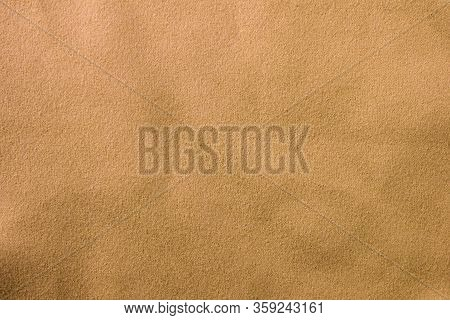 Old Grunge Beige Fabric Texture Background. Used Weathered Brown Dirty Cloth Pattern, Worn Rough Mat