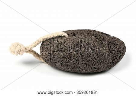 Pumice Stone For Spa Isolated On A White Background. High Resolution Photo. Full Depth Of Field.