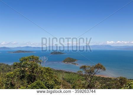 View From Mount Kootaloo On Dunk Island In Queensland Australia.
