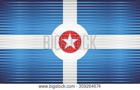 Shiny Grunge Flag Of The Indianapolis - Illustration,  Three Dimensional Flag Of Indianapolis