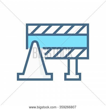 Barricade Or Safety Equipment Vector Icon Design, 64x64 Pixel Perfect And Editable Stroke.