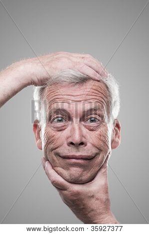 Humorous Macabre Self Portrait
