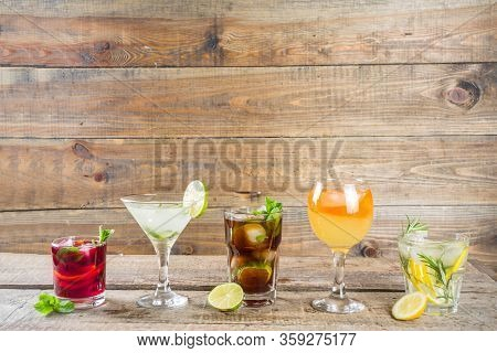 Selection Of Summer Drinks