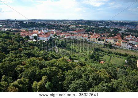 Prague panorama with Strahov Monastery