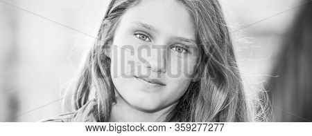 Portrait Of Adolesent Girl, Black And White
