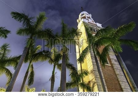 Hong Kong - January 18, 2016: Standing 44-metres Tall, The Old Clock Tower Was Erected In 1915 As Pa