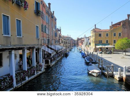 Canal in Murano Italy
