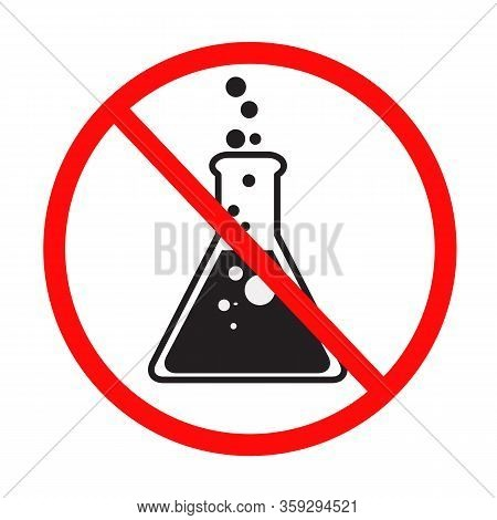 No Chemical Additives Icon On White Background. Flat Style. No Preservative Icon For Your Web Site D