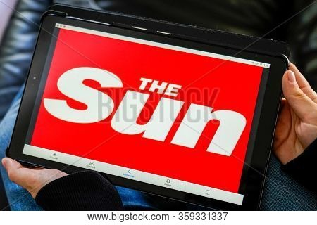 Bordeaux , Aquitaine / France - 11 27 2019 : Britain The Sun Tabloid British Best-selling Newspaper