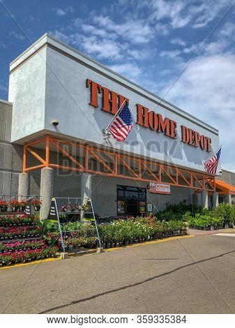 The Home Depot Store In Oceanside, California, Usa. Home Depot Is The Largest Home Improvement Retai