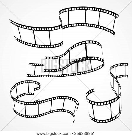 Collection Of Vector Design Illustration Film Strips