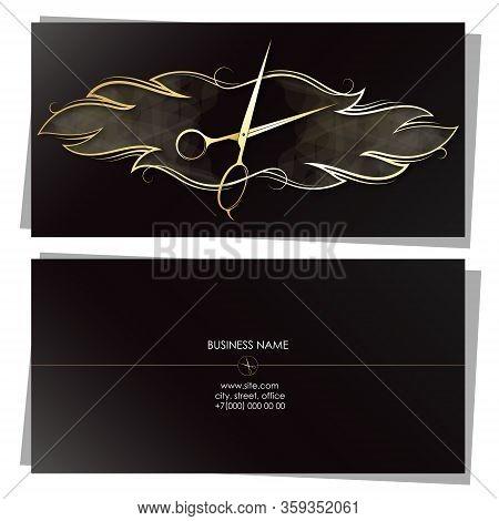 Stylist Beauty And Hair Salon Business Card Concept