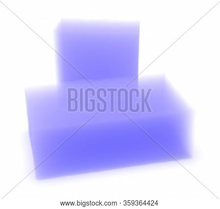 Silica Aerogel Material Isolated On White. 3d Rendering