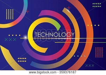 Colorfull Modern Geometric Shape Background Of Gradient Smooth Background Grometric On Elegant Rich