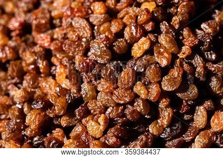 Raisins. Macro. Raisins As Background Grape Raisin Texture.