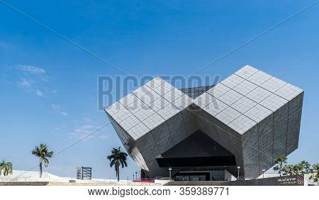 Pathum Thani, Thailand - Dec 31, 2018 Landmark Unique Building Of The National Science Museum (nsm),