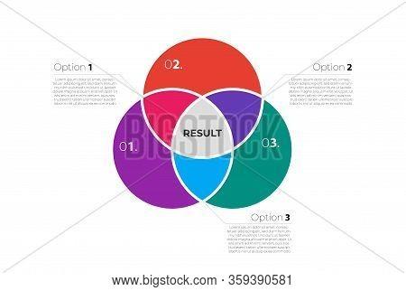 Venn Diagram Infographic Template . Three Circles Merge .