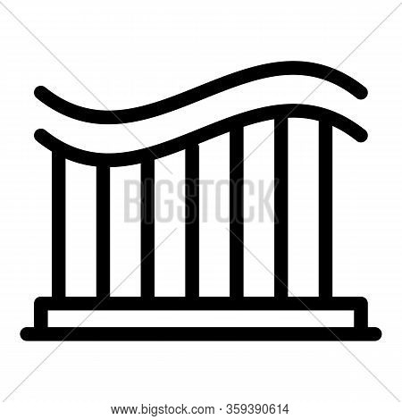 Roller Coaster Icon. Outline Roller Coaster Vector Icon For Web Design Isolated On White Background