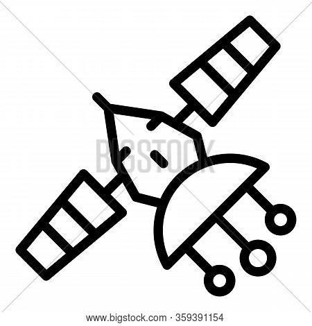Telecommunication Satellite Icon. Outline Telecommunication Satellite Vector Icon For Web Design Iso