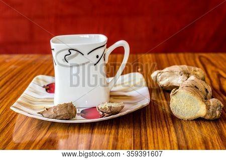 Ginger Tea Adrak Chai Spiced Indian Tea. Adrak Wali Chai. Ginger Tea Made With Milk Lemon Juice, Hon