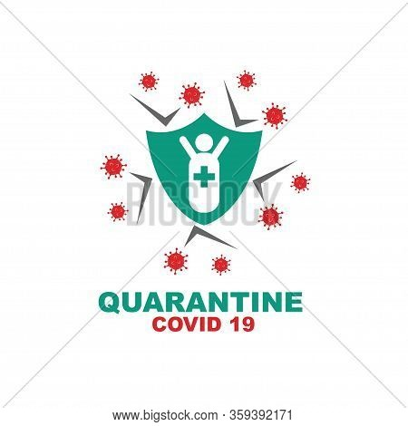 Corona Virus Disease 19 Vector Illustration Template Pandemic