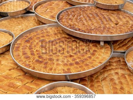 Oriental Sweets At The Market Known As Baklava