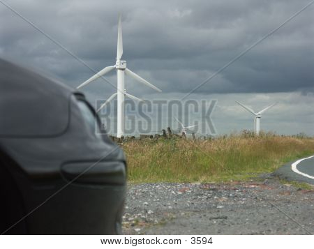 Nose, Windmill And Clouds