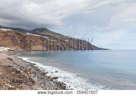 La Palma Coastline.  The Coastline On The Spanish Island Of La Palma As Viewed From The City Of Sant