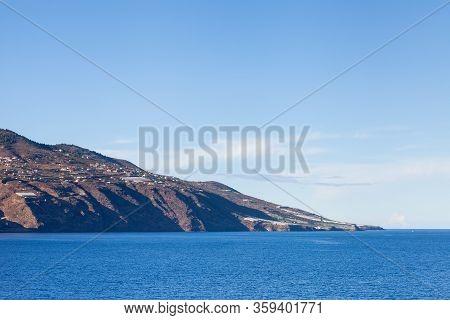 La Palma Headland.  The View From Santa Cruz Towards The Headland On The Spanish Island Of La Palma.