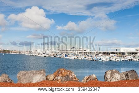 Arrecife, Spain - November 6:  Marina Lanzarote Is Pictured On November 6, 2016.  The Marina Is Loca