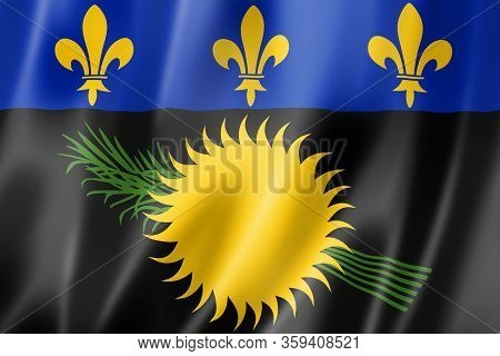Guadeloupe Flag, Overseas Territories Of France. 3d Illustration