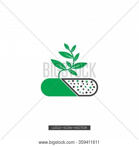 Medicine Tree Vector Logo, Natural Alternative Herbal Medicine And Healthcare Icon And Element , Org