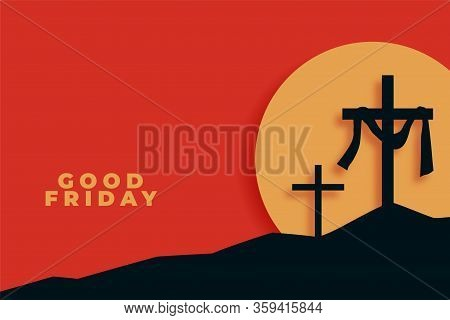 Good Friday Background In Flat Style Design